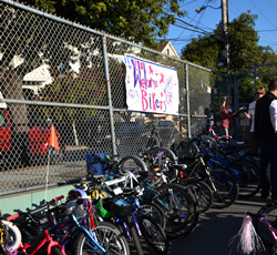Bike to School Day at Grattan Elementary