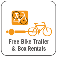 SF Bicycle Coalition bike trailer and box rental