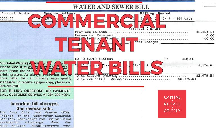 Blog: Commercial Tenant Water Bills