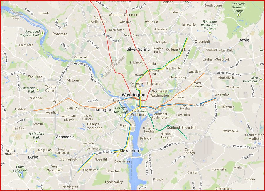 Washington Metro Area Naighborhoods