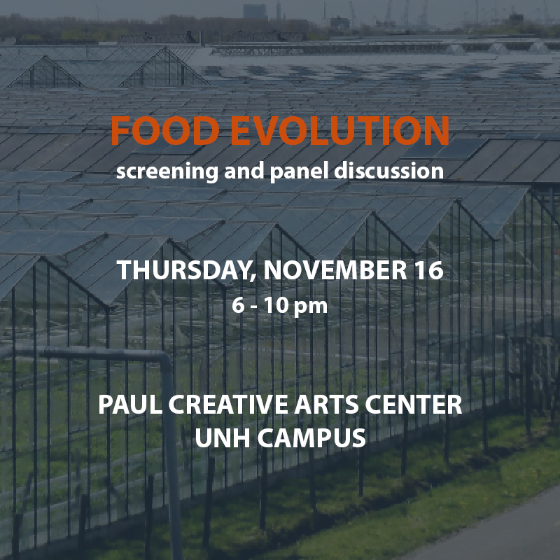 The film Food Evolution comes to UNH on Thursday, Nov. 16