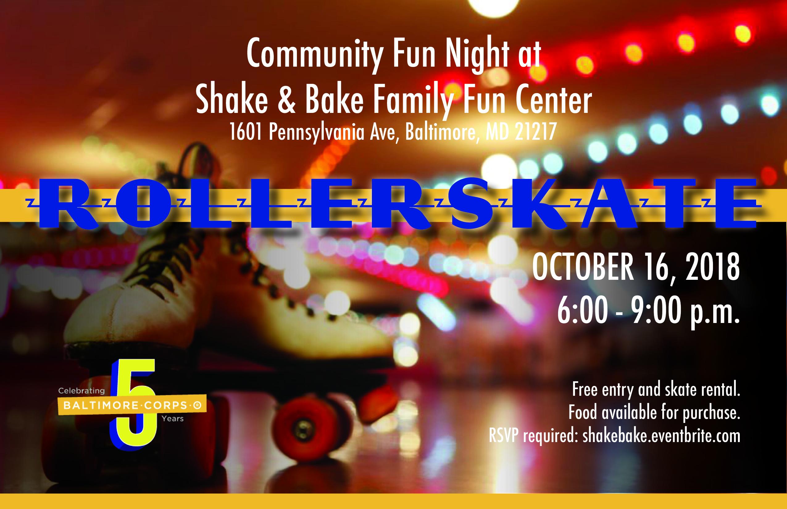 Community Fun Night at Shake and Bake