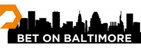 Bet on Baltimore on silhouette of Baltimore skyline with Dent Education logo