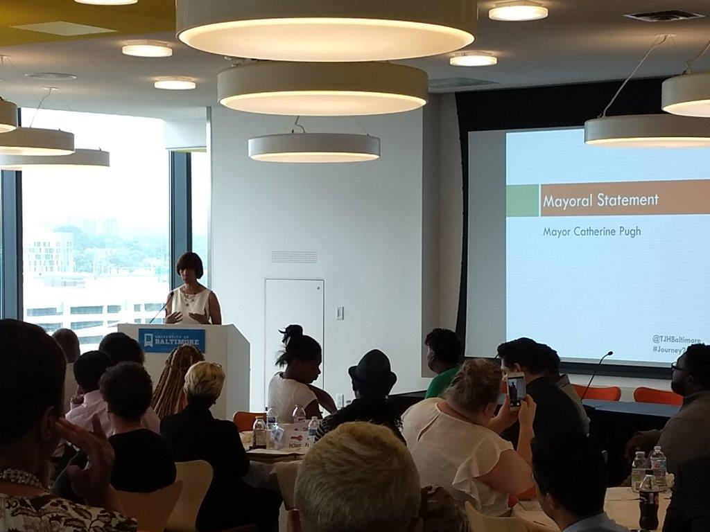 Mayor Pugh at Journey to Jobs forum