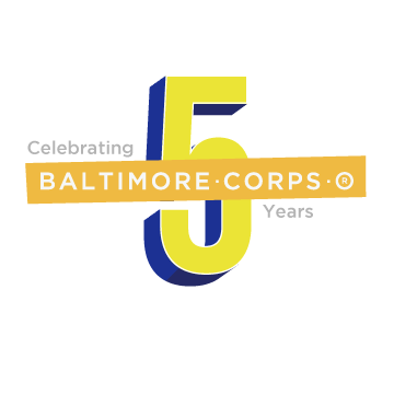 Celebrating 5 Years Baltimore Corps logo