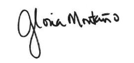 Gloria's signature